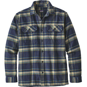 Patagonia M's LS Fjord Flannel Shirt Activist: Navy Blue